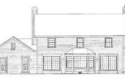 Colonial Style House Plan - 4 Beds 4 Baths 2925 Sq/Ft Plan #72-168 Exterior - Rear Elevation