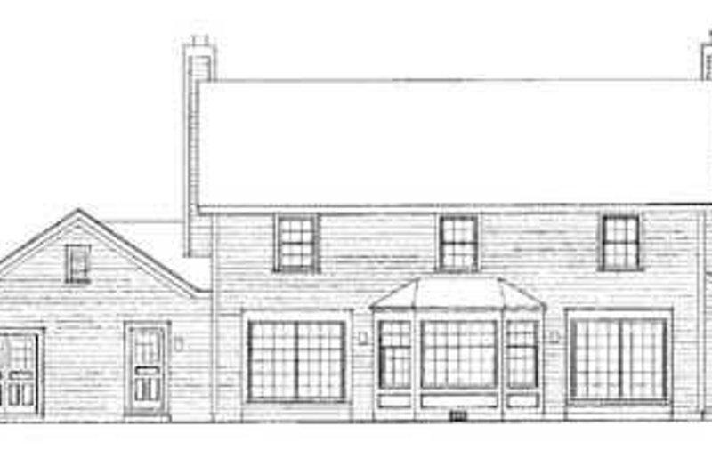 Colonial Exterior - Rear Elevation Plan #72-168 - Houseplans.com