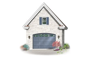 Dream House Plan - Canadian european style garage elevation