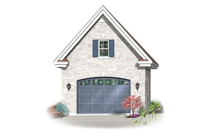 Canadian european style garage elevation