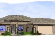 Adobe / Southwestern Style House Plan - 5 Beds 2 Baths 2434 Sq/Ft Plan #24-266 Exterior - Front Elevation