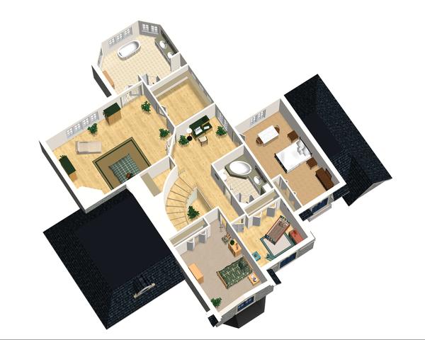 European Floor Plan - Upper Floor Plan Plan #25-4476