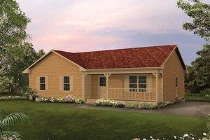 Cottage Exterior - Front Elevation Plan #57-223