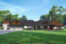 Dream House Plan - Craftsman Exterior - Front Elevation Plan #124-1238