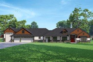 Architectural House Design - Craftsman Exterior - Front Elevation Plan #124-1238