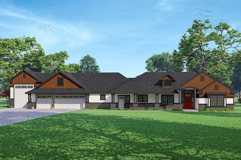 House Plan Design - Craftsman Exterior - Front Elevation Plan #124-1238