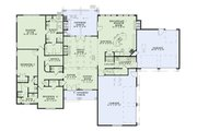 European Style House Plan - 3 Beds 2.5 Baths 2618 Sq/Ft Plan #17-2456 Floor Plan - Main Floor Plan