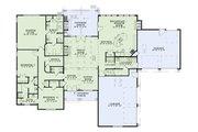 European Style House Plan - 3 Beds 2.5 Baths 2618 Sq/Ft Plan #17-2456 Floor Plan - Main Floor