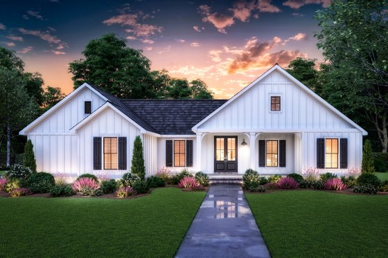 Farmhouse Exterior - Front Elevation Plan #1074-26