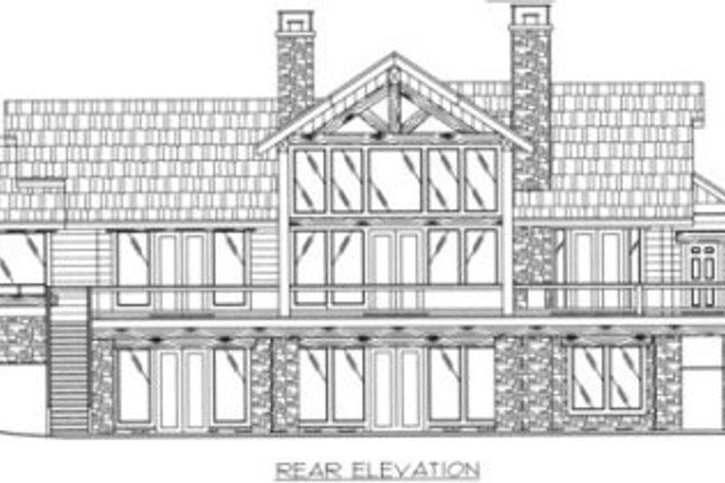 Craftsman Exterior - Rear Elevation Plan #117-383 - Houseplans.com