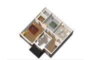 European Style House Plan - 3 Beds 1 Baths 1536 Sq/Ft Plan #25-4702 Floor Plan - Upper Floor Plan
