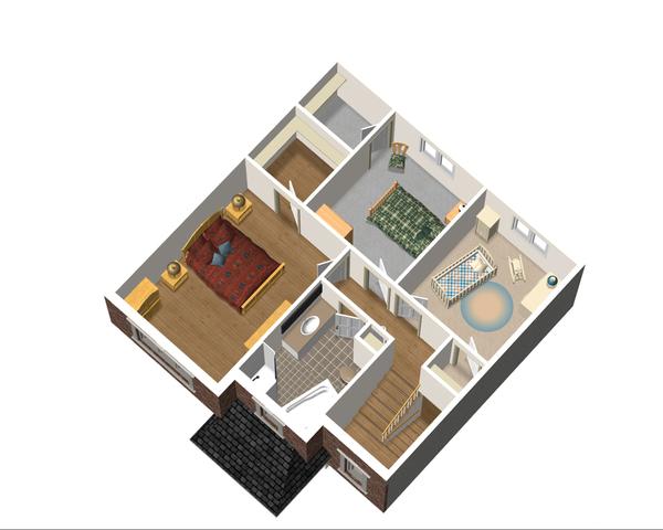 European Floor Plan - Upper Floor Plan Plan #25-4702