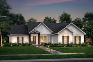 Dream House Plan - Farmhouse Exterior - Front Elevation Plan #430-225