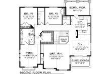 Bungalow Floor Plan - Upper Floor Plan Plan #70-1058
