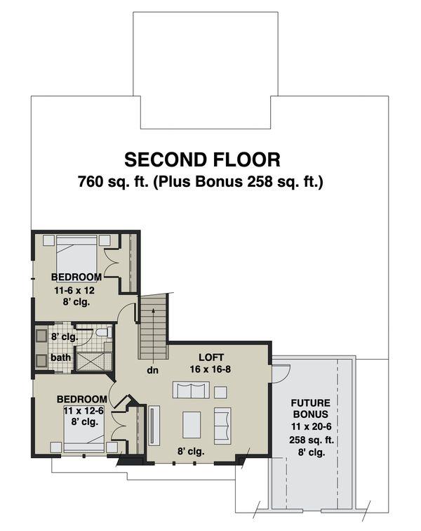 House Blueprint - Craftsman Floor Plan - Upper Floor Plan #51-1173