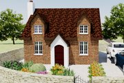 European Style House Plan - 2 Beds 1 Baths 566 Sq/Ft Plan #542-5 Exterior - Front Elevation