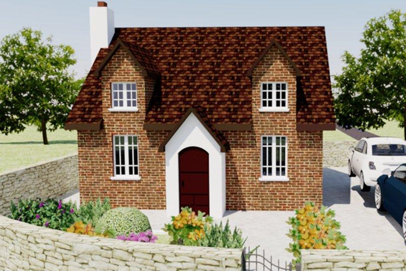 European Style House Plan - 2 Beds 1 Baths 566 Sq/Ft Plan #542-5