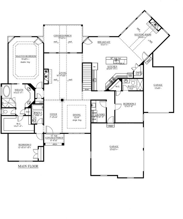 European Floor Plan - Main Floor Plan Plan #437-58