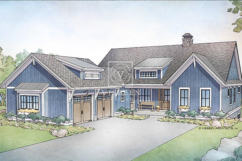 Farmhouse Exterior - Front Elevation Plan #928-328