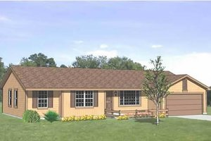 Ranch Exterior - Front Elevation Plan #116-155