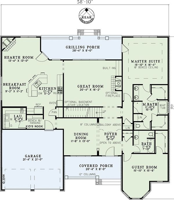 European Floor Plan - Main Floor Plan #17-1181