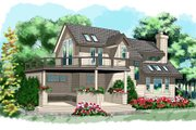 Contemporary Style House Plan - 3 Beds 2 Baths 1235 Sq/Ft Plan #118-101 Photo
