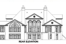 European Exterior - Rear Elevation Plan #119-193