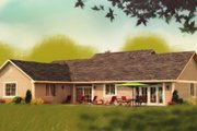 Ranch Style House Plan - 3 Beds 2 Baths 1924 Sq/Ft Plan #427-6 Exterior - Other Elevation