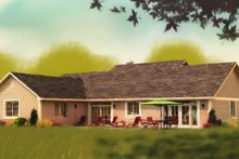 House Plan Design - Ranch Exterior - Other Elevation Plan #427-6
