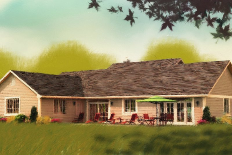 Ranch Exterior - Other Elevation Plan #427-6 - Houseplans.com