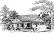 European Style House Plan - 3 Beds 2 Baths 1842 Sq/Ft Plan #41-135 Exterior - Front Elevation