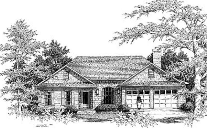 European Exterior - Front Elevation Plan #41-135