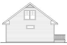Cottage Exterior - Rear Elevation Plan #124-916