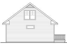Dream House Plan - Cottage Exterior - Rear Elevation Plan #124-916