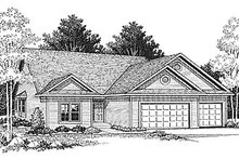 Dream House Plan - Traditional Exterior - Front Elevation Plan #70-134