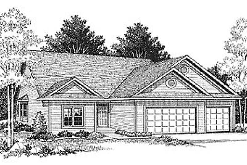 Architectural House Design - Traditional Exterior - Front Elevation Plan #70-134