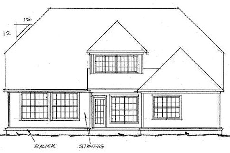 Traditional Exterior - Rear Elevation Plan #20-1292 - Houseplans.com