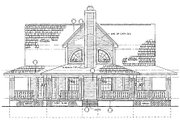 Country Style House Plan - 3 Beds 2 Baths 1640 Sq/Ft Plan #72-484 Exterior - Rear Elevation