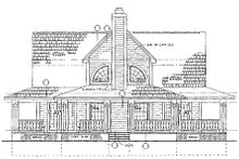 Country Exterior - Rear Elevation Plan #72-484