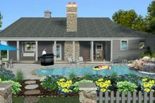Architectural House Design - Craftsman Exterior - Rear Elevation Plan #56-718
