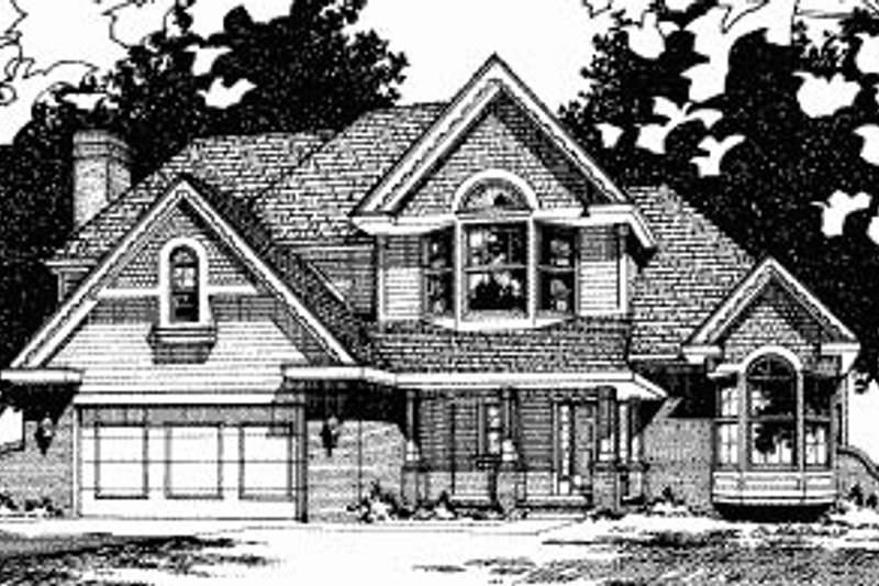 Traditional Exterior - Front Elevation Plan #20-617 - Houseplans.com
