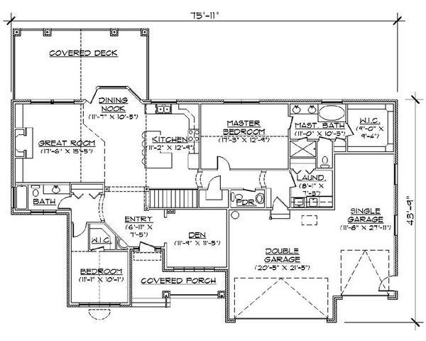 Traditional Floor Plan - Main Floor Plan Plan #5-263