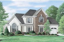 House Plan Design - European Exterior - Front Elevation Plan #34-109