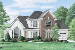 Architectural House Design - European Exterior - Front Elevation Plan #34-109
