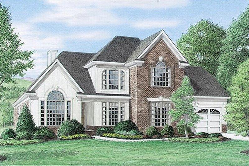 Architectural House Design - European Exterior - Front Elevation Plan #34-109