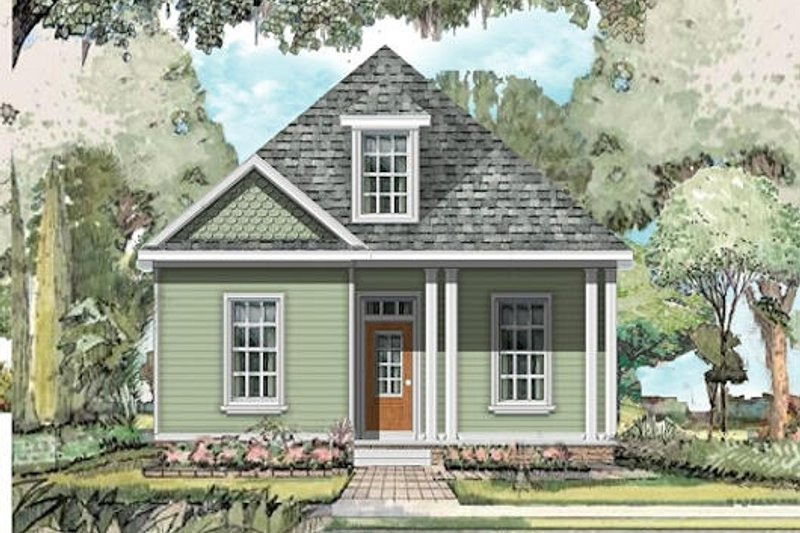 Traditional Style House Plan - 3 Beds 2.5 Baths 1718 Sq/Ft Plan #424-224 Exterior - Front Elevation