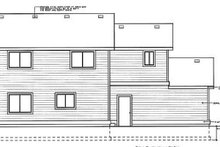 Home Plan - Traditional Exterior - Rear Elevation Plan #92-211