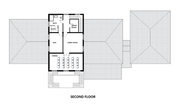 European Floor Plan - Other Floor Plan Plan #542-9
