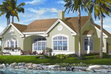 Mediterranean Exterior - Rear Elevation Plan #23-2213