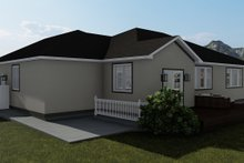 House Plan Design - Traditional Exterior - Rear Elevation Plan #1060-45